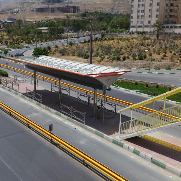 خط 10 BRT ایستگاه الوند